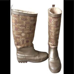 Ugg Wallingford Signature Lined Rain boots sz7